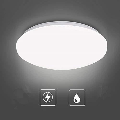 Albrillo Plafoniera LED Soffitto - 18W Lampada da Soffitto Ø27cm, Luce Bianca Naturale 4000K 1450Lumen, Impermeabile IP44, Plafoniera Bagno per Camera da Letto a Risparmio Energetico