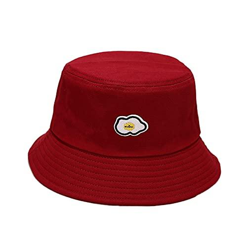 Sombrero de Pescador Reversible Algodón Plegable Margaritas Bucket Hat Sombrero de Cubo de Bordado Verano Gorro Pescador,Al Aire Libre Visera Protección UV Patrón de Sonrisa Sombrero de Sol de Playa