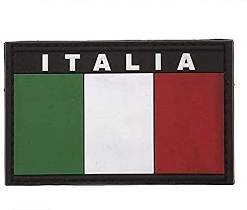 Patch 3D Bandiera Italiana Tricolore in PVC con velcro 8x5 cm…
