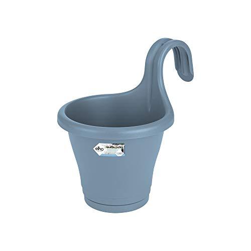 Elho Corsica Facile À Accrocher Simple - Planteur - Bleu Vintage - Extérieur & Balcon - L 19.4 x W 27.1 x H 25.9 cm