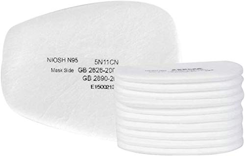 10pcs Replacement Parts Respirator Paint Spraying dust Gas 6200 6800 7502-filter Protection Replacement Parts, Particle Filter Compatible with 5p71
