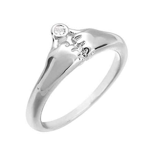 HYLJZ Ring kleine handring in het jaar 2019, geschikt voor vrouwen bruiloft en andere gelegenheden zirkoon sieraden geschenken