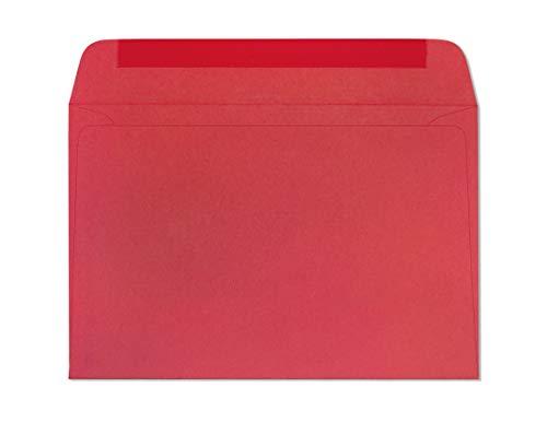 Briefumschläge, 15,2 x 22,9 cm, Rot, helle Farbe, Grußkarten, Einladungsumschlag, 10,9 kg, 15,2 x 22,9 cm, schwere Papierumschläge für Zuhause, Büro, Business, Legal oder Schule – 25 Stück