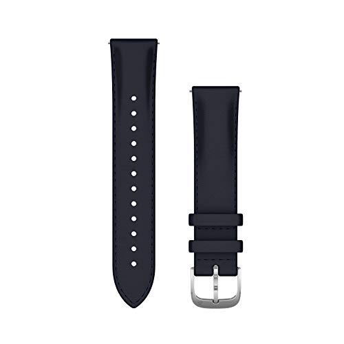 Garmin Schnellwechsel-Armband 20 mm für Garmin Venu Serie, vivomove HR/3/Style/Luxe, vivoactive 3, Forerunner 245/645, Approach S 40. Verschiedene Materialien und Farben. Einfach ein- und ausklicken.
