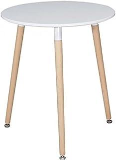 Table Ronde Design Moderne Plan en MDF et Pieds en hêtre