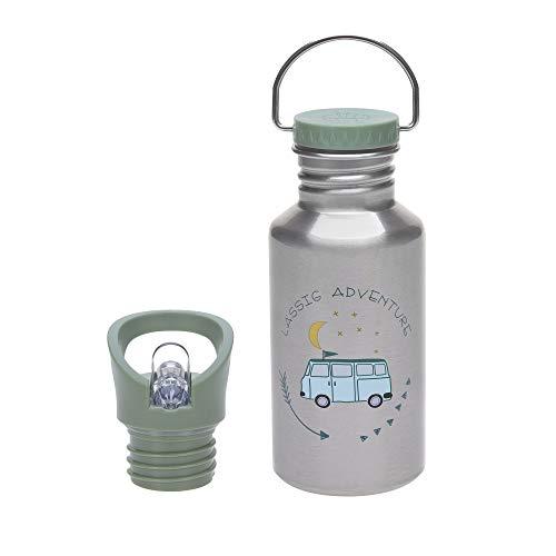LÄSSIG Bouteille pour enfants en acier inoxydable 500 ml/Bottle Stainless Steel Adventure Bus