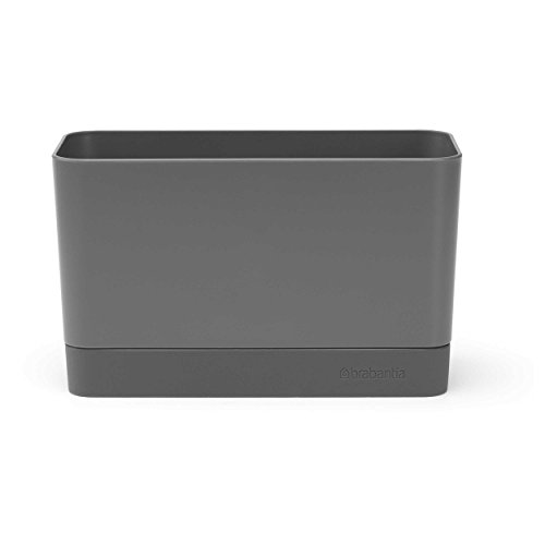 Brabantia Sink Side Organizer per Lavello, Dark Grey, 8.5 x 19 x 11.5 cm