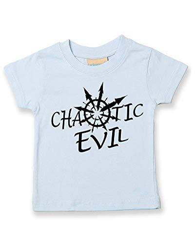 Ice-Tees T-shirt pour enfant Motif Chaotic Evil What's Your Alignment? - Bleu - 24-36 mois