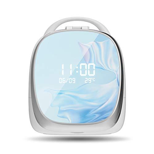 Organisateur Cosmétique LED, Ins Rouges Net Table De Toilette, ELFA Boîte Magique Multifonction Intelligent Créatif,Bleu,B
