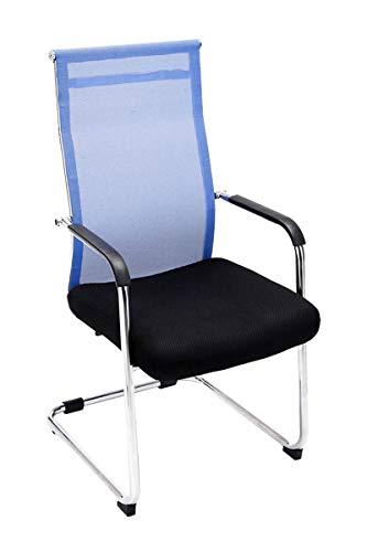 CLP Freischwinger-Stuhl mit Armlehne BRENDA, Blau