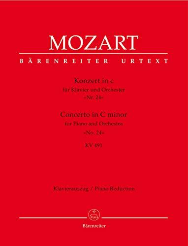 Konzert für Klavier und Orchester Nr. 24 c-Moll KV 491. Klavierauszug, Urtextausgabe