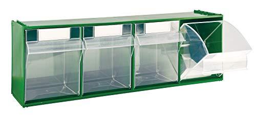 Cassettiera Mobil Plastic Modello 'Madia 4' - 4 Cassetti - Verde