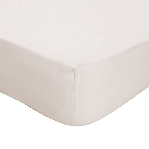 Musbury, lenzuola in policotone di lusso, facile manutenzione, Ivory, Extra Deep (12') Single