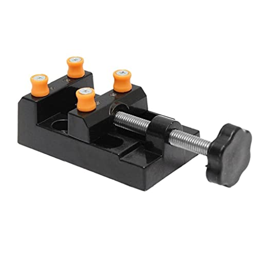 Mini Drill Press Vise Flat Clamp Bench Table Vice for Jewelry Walnut Nuclear Watch DIY Sculpture Craft Carving Tool,H Operated Tools