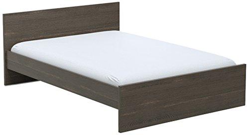 INFINIKIT Haven Bett 140 x 200 cm - graue Eiche Optik