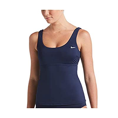 Nike Essential Scoop Neck Tankini Midnight Navy XL