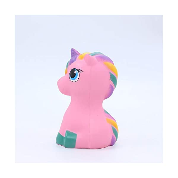 YXJC Fun Toys Squishies, Kawaii Pink Unicorn Pony Squishy, Creamy Aroma Slow Rising Squeeze Toys for Boys and Girls Gift 8