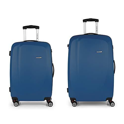 Gabol Line Jeu de valises 77 cm, Bleu (Blue) - 112305003