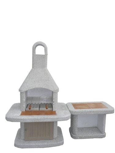 Wellfire Siesta Grillkamin inkl. Beistelltisch + Holztür