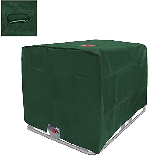 WMLBK IBC - Telo di copertura per serbatoio dell'acqua da 1000 l, rivestimento IBC, copertura protettiva adatta per serbatoio IBC, contenitore per acqua piovana (verde)