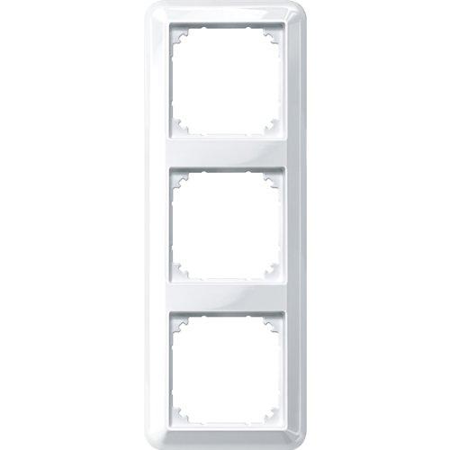 Merten 388319 Atelier-M-Rahmen, 3fach, polarweiß glänzend
