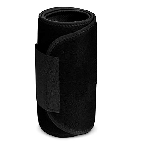 """ANEMOI Men's and Women's Waist Slimming Neoprene Ab Belt Trainer for Faster Weight Loss Fat Burner Tummy Control/Belly Yoga Wrap Exercise Body Slim Look Belt (Free Size Up To 45 """" ) (Black)"""