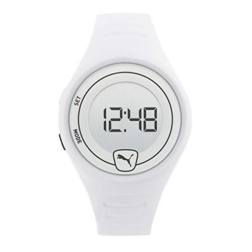 PUMA Men Faster Polyurethane Watch, Color: White/White (Model: P5027)