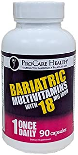 ProCare Health 18mg Iron Bariatric Multivitamin Capsule 90ct (3 Month Supply)