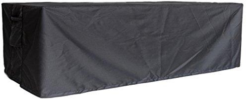 Luxus Gartenmöbel Schutzhülle Abdeckhaube Abdeckung Outdoor Cover, Size 8 + 1 Square, 310 x 140 x 100 cm, Farbe carbon