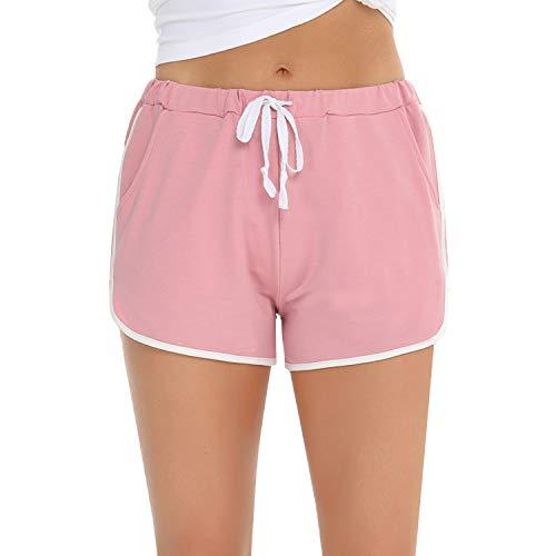 iClosam Pantalones Cortos Pijama Mujer Suave Pantalones Cortos Mujer Deporte de Verano Shorts Mujer Casual S-XXL