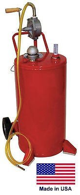 Streamline Industrial GAS & FUEL CADDY Commercial - 25 Gallon - UL & OSHA Approved - Rotary Hand Pump