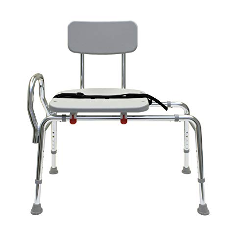 ComfortSlide Bathtub Transfer Bench and Sliding Shower Chair (70211). Multiple Safety Features, Tool-Less Asse Multiple Safety Features, Tool-Less Assembly, Height Adjustable and High Weight Capacity.