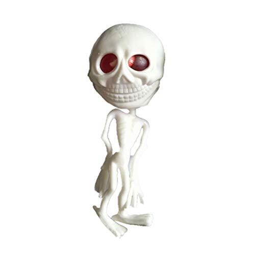 BESTOYARD Gummi Anti-Stress Spielzeug Vent Alien Wasserball Spielzeug Dekompression Werkzeug Druck Reliver Halloween Party Requisiten (weiß)