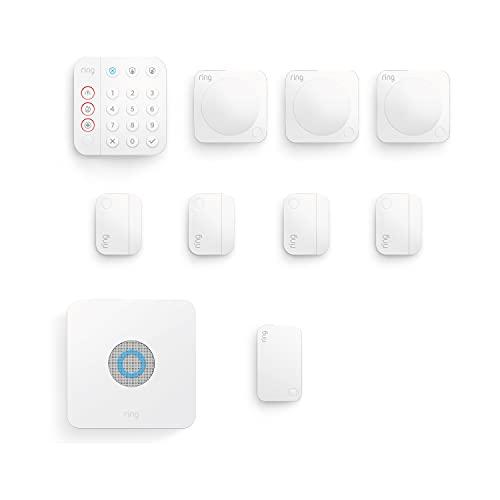 Nuevo kit de 10 piezas Ring Alarm de Amazon (2.ª generación)   Sistema de seguridad para el hogar compatible con Alexa y con vigilancia asistida opcional, sin compromisos a largo plazo
