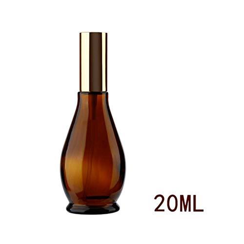 LASISZ Bouteille Rechargeable en Verre ambré 4 Tailles en Forme de calebasse récipient pulvérisateur de Parfum Voyage Maquillage atomiseur Outil cosmétique, 20 ML