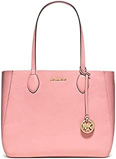 Michael Kors 30S6GM5T3L Mae Soft Leather Carryall E/W Reversible Tote - Pink/Coral