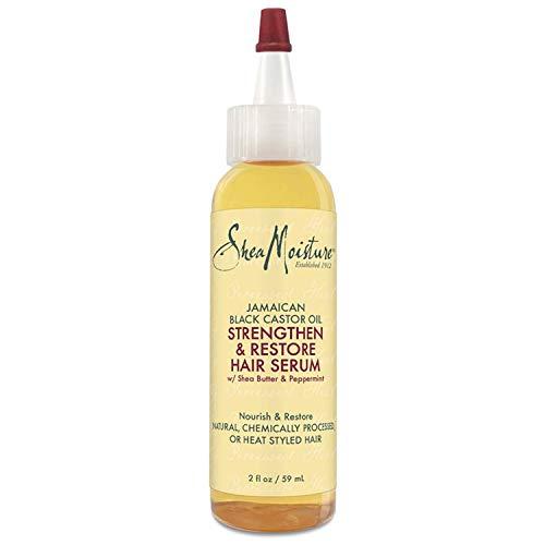 SheaMoisture Jamaican Black Castor Oil Strengthen & Restore Hair Serum Hair Treatment, 2 Fluid Ounce