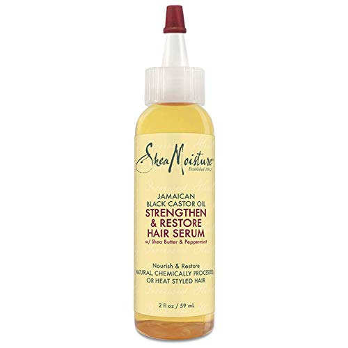 SheaMoisture Jamaican Black Castor Oil Strengthen & Restore Hair Serum Hair Treatment, 2 Fluid Ounce