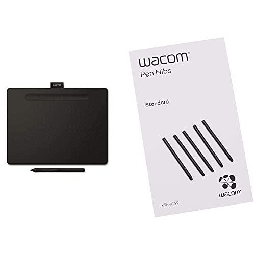 Wacom Intuos M - Tableta Gráfica Bluetooth para Pintar, Dibujar Y Editar Photos con 3 Softwares Creativos Incluidos para Descargar, Windows & Mac + Ack-20001 - Punta De Bolígrafo Digital