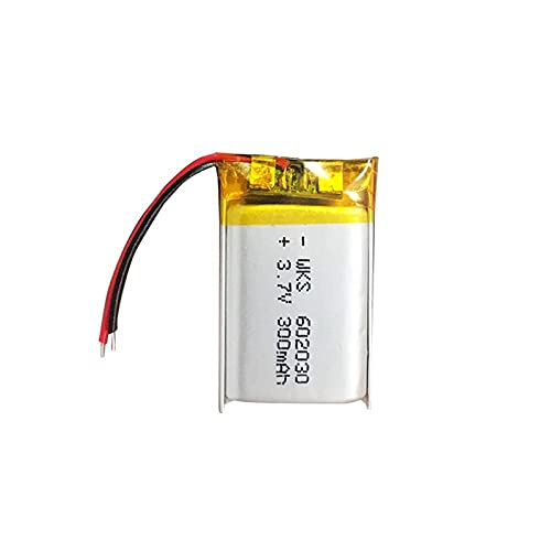 1Pcs 300mAh 3.7V 602030 Lithium Polymer Rechargeable Battery for Bluetooth Speaker MP3 MP4 Smart Watch Wireless Card Selfie Stick