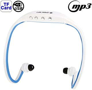 WZY Sport MP3 Player Headset with TF Card Reader Function, Music Format: MP3 / WMA (White + Red) (Color : Color3)