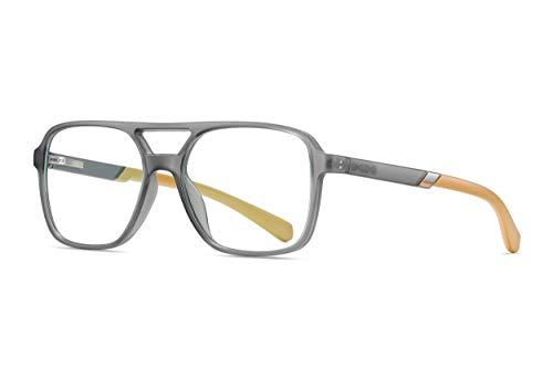 Buho Eyewear - TR90 - Lentes Filtro de Luz Azul Computadora- Modelo Connor (Gris con camel)
