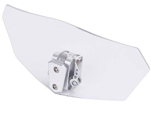 eBoot Deflector de extensión con ajuste universal y clip para parabrisas de motocicleta