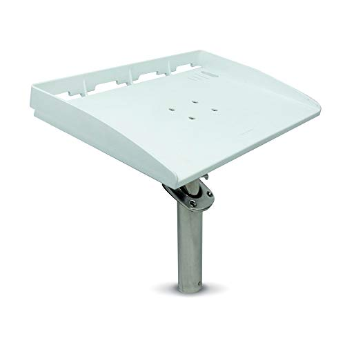 Five Oceans White Bait Fillet Serving Cutting Board Table Rod Holder Mount with Plier Storage and Knife Slots, 20-inches FO-3936