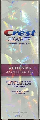 Intensive Whitening Accelerator and Enamel Care Treatment 3D White Brilliance Crest 75ml Cooling Vanilla