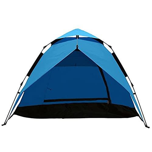 ZSP Carpas Tienda de campaña al Aire Libre Impermeable Protector Solar Tienda instantánea Automatic Pop Up Tent 4 Persona Tienda al Aire Libre (Color : Blue)