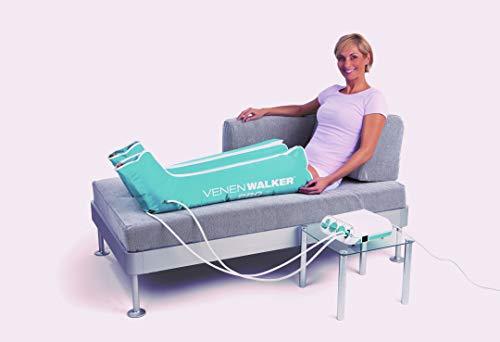 Venen Therapiegerät VenenWalker Pro | Hilft gegen Verspannungen und bei schweren Beinen | Inkl. 2 Beinmanschetten und Timerfunktion [230 V]