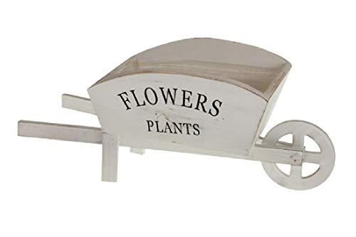 Decpero Schubkarre Flowers Plants/zum Bepflanzen/Weiss Vintage/Holz