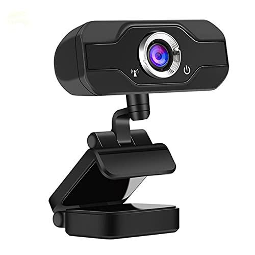 AmiAbi KKAAMYND Interfaz USB 1080P Full High Definition Webcam con micrófono, objetivo gran angular plegable para ordenador portátil. Utiliza la cámara USB fácil de instalar