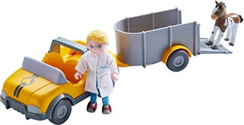 Preisvergleich Produktbild HABA 303926 - Little Friends Tierarzt-Auto mit Anhänger,  Set mit Auto,  Anhänger,  Tierarzt Andreas und Fohlen,  Zubehör für die Little Friends-Spielwelt,  ab 3 Jahren